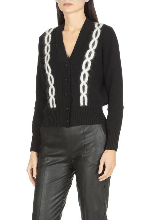 Cardigan in maglia in misto lana