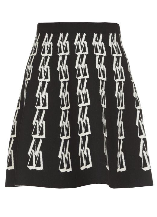 Knitted short skirt