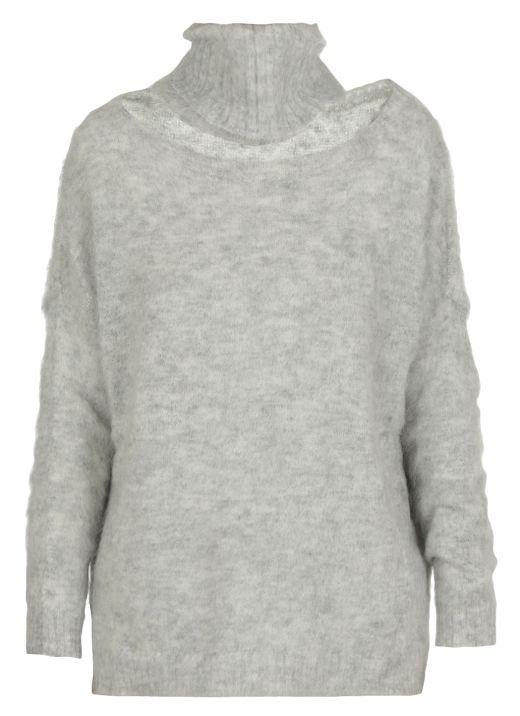 Maglia bicolore in lana