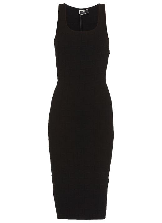 Longuette dress with monogram