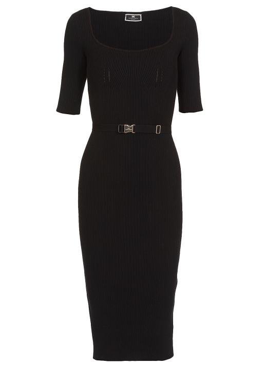 Ribbed longuette dress