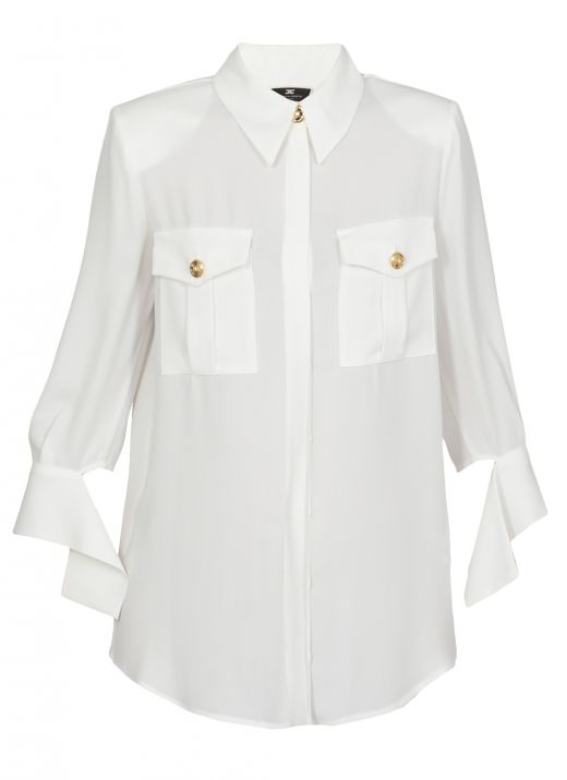 Shirt with foulard sleeves