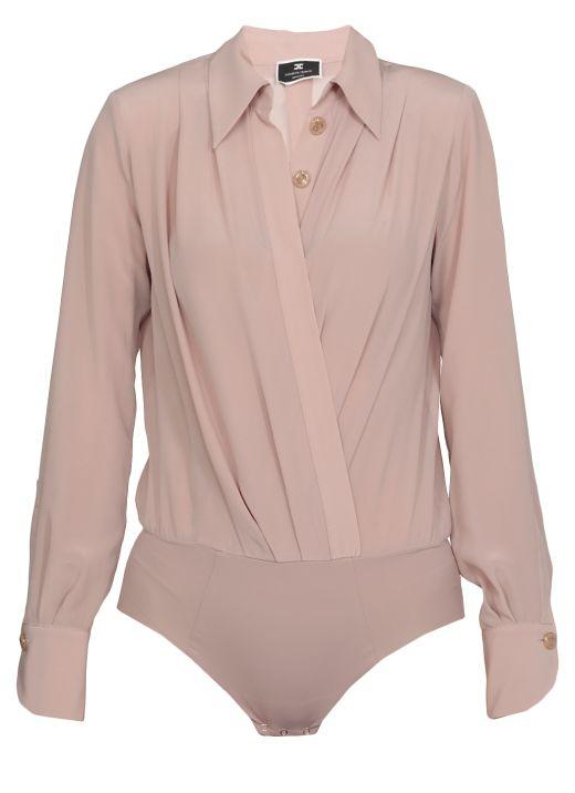 Crossed bodysuit shirt