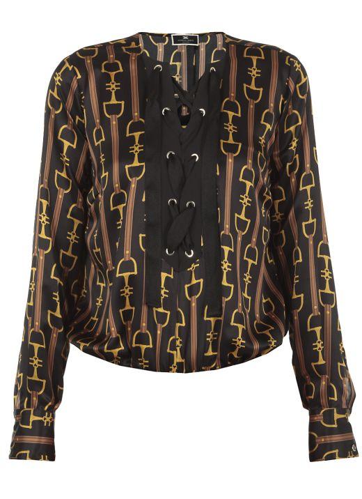 Camicia body in seta