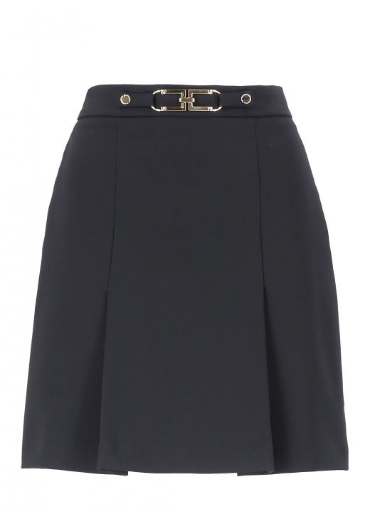 Mini skirt with Light Gold buckle