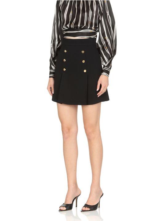 Skirt with golden buttons