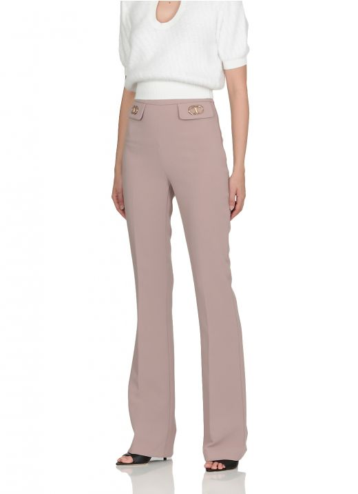 Flared trousers with logo