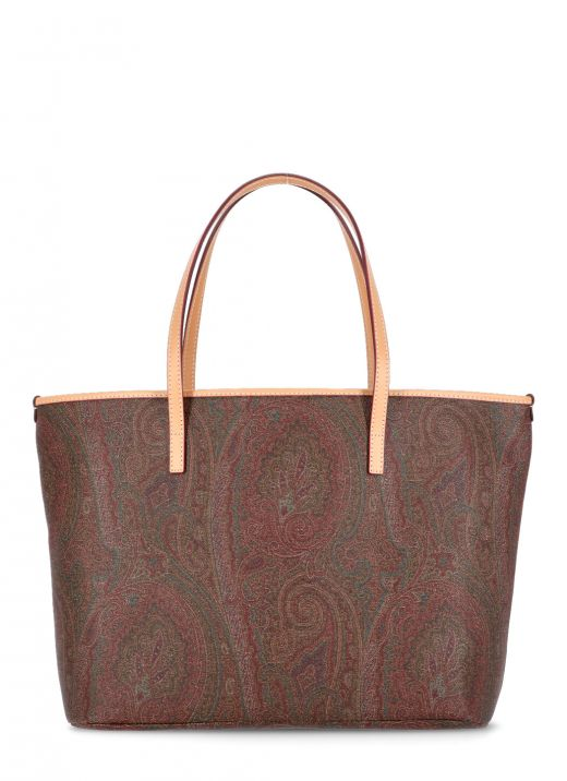 Shopping bag with paisley pattern