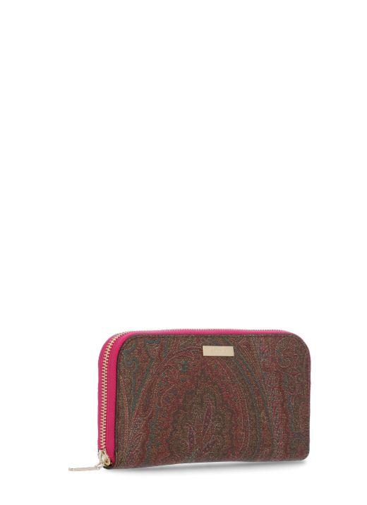 Paisley wallet with zip