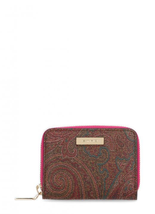 Paisley small wallet with zip