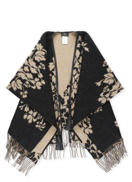 Wool blend cape