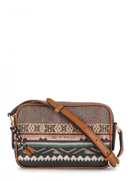 Paisley bag with geometric print