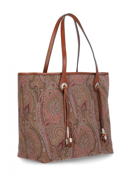 Paisley shopping bag with tassels and nuggets