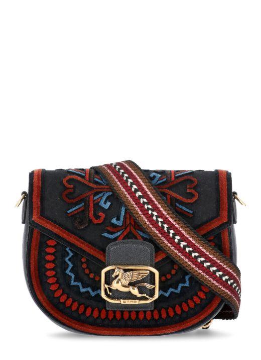 Raimbow bag with embroidery