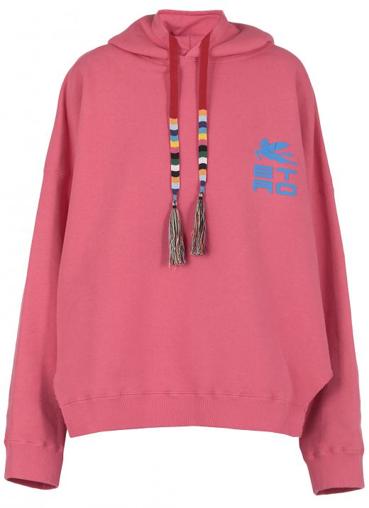 Cotton hoodie with logo