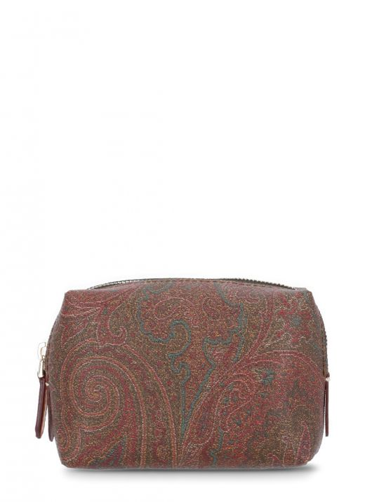 Paisley printed small beauty case