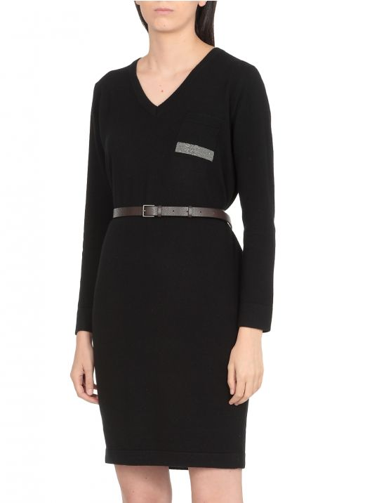 Wool silk and cashmere dress