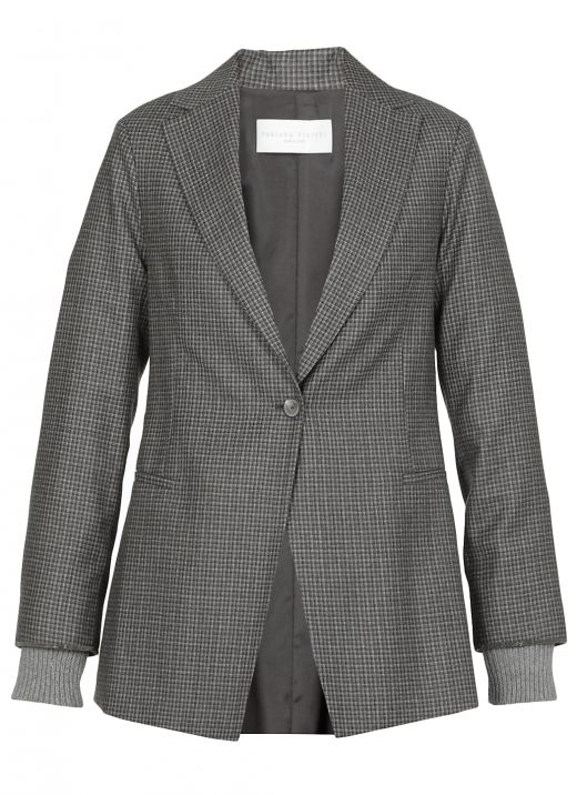 Wool mono breasted jacket
