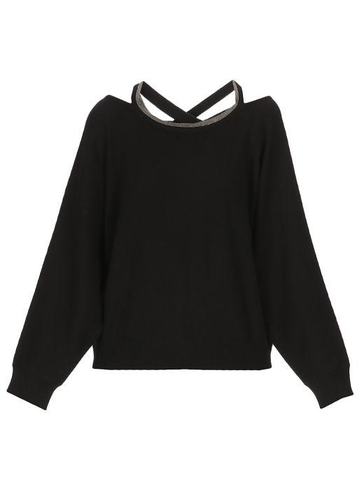 Wool silk and kaschmir sweater