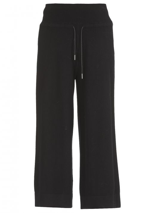 Wool silk and cashmere trouser