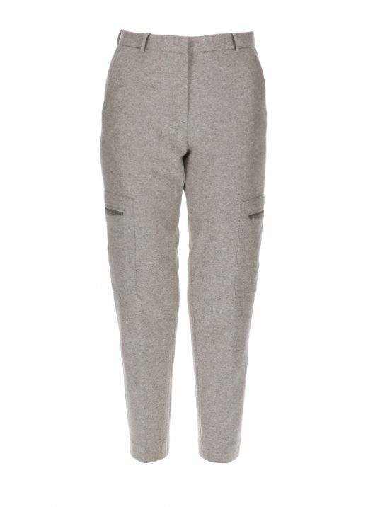 Wool blend pant