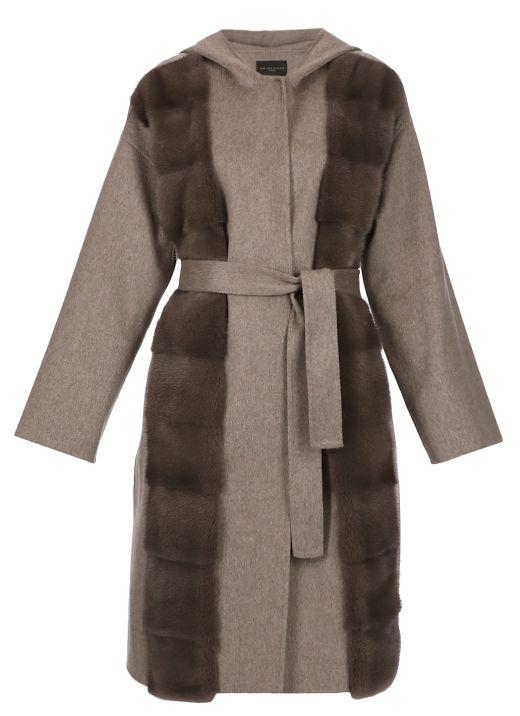 Kaschmir coat with fur