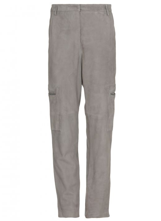 Suede leather trousers