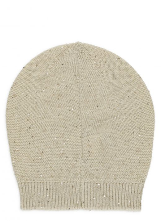 Beanie hat with paillettes