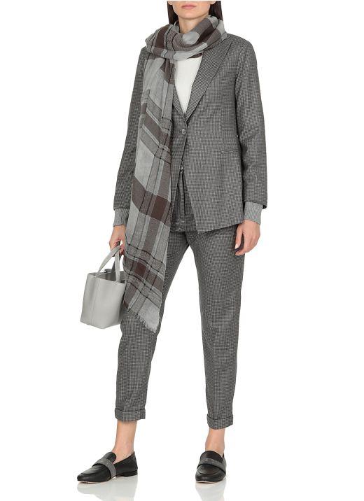 Virgin wool blend scarf