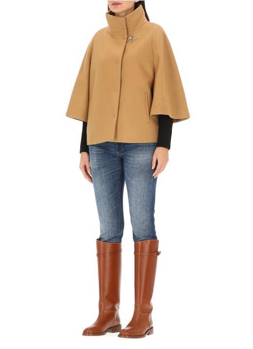 Virgin wool cape