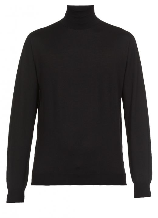Wool cashmere and silk blend sweater