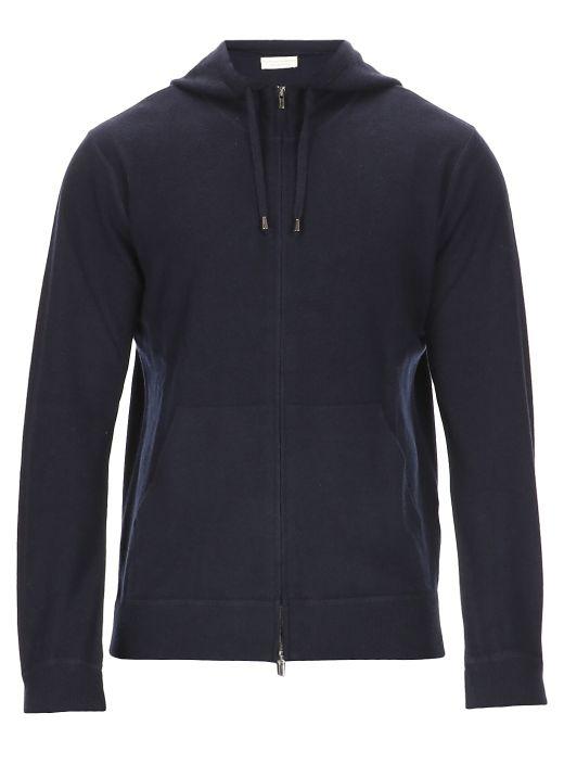Merino wool hooded sweatshirt