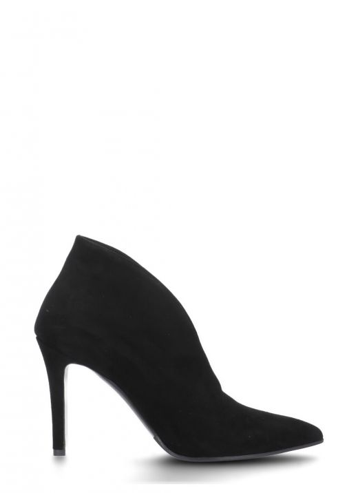 Suede leather decollete