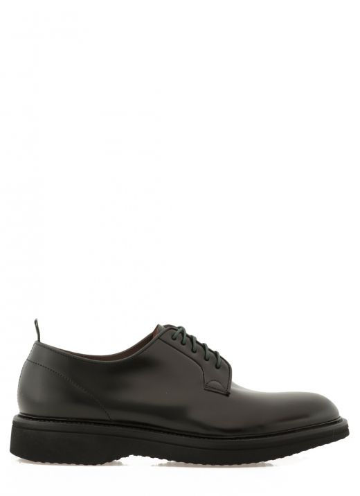 Smooth leather lace up shoe