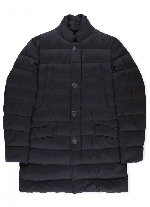 Down jacket with double trim