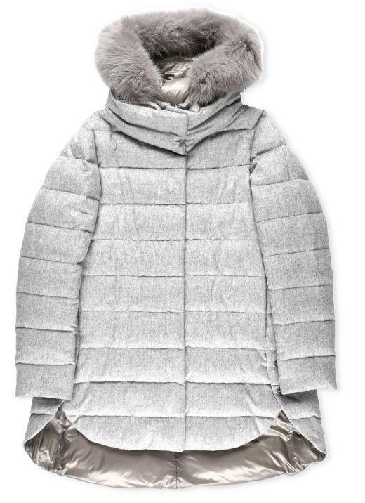 Resort cashmere and silk down jacket