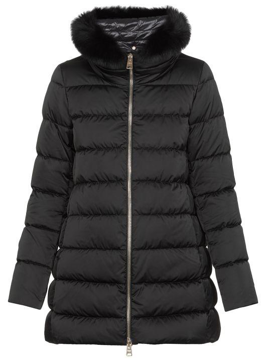 Elisa long down jacket