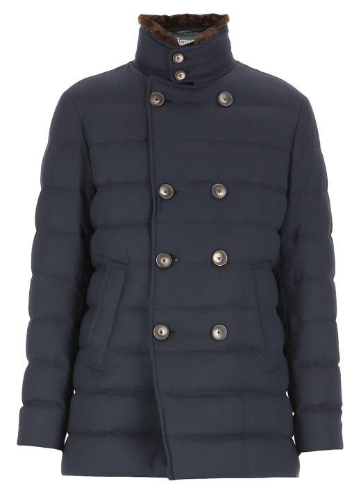 Wool blend down jacket