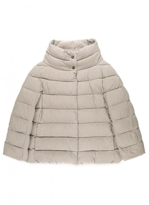 Padded down jacket with coordinated gloves
