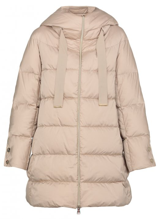 Long padded down jacket