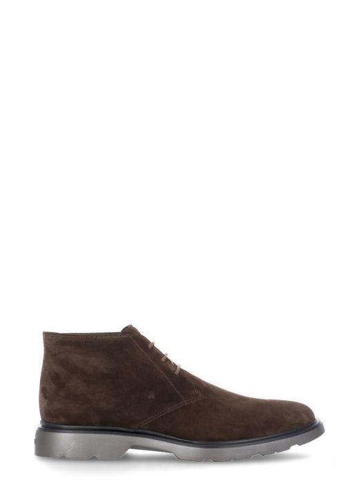 Leather desert boot