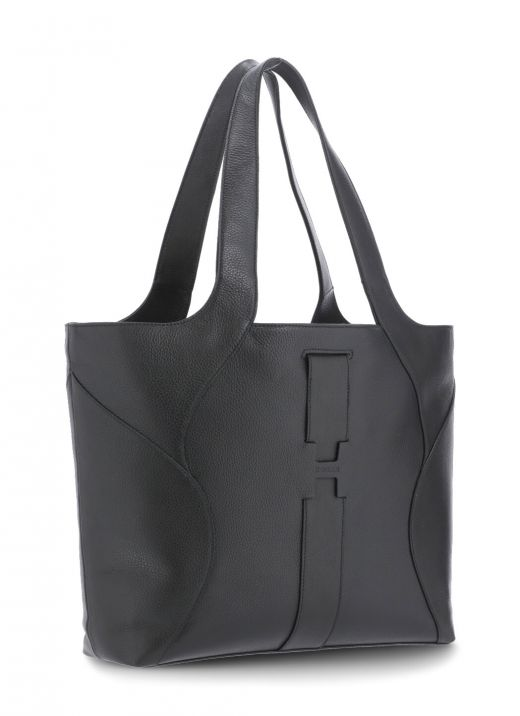 Leather shopping bag