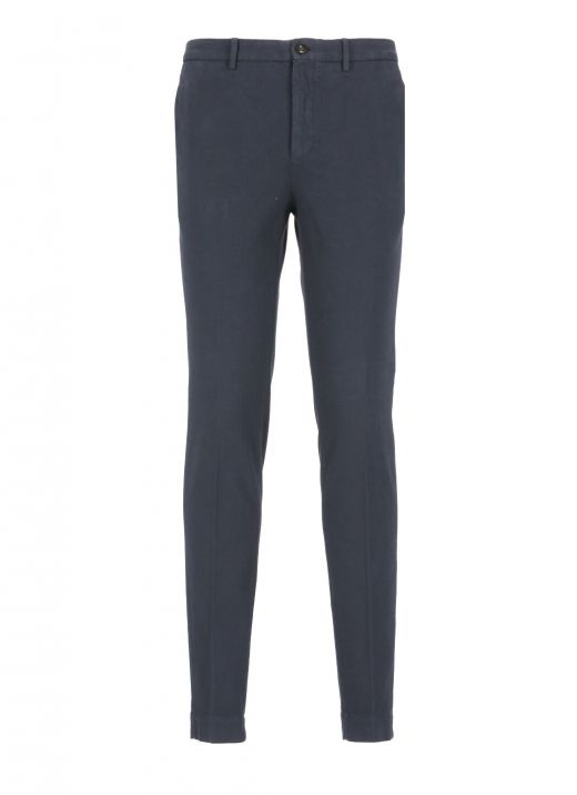 Cotton trousers with micro pattern