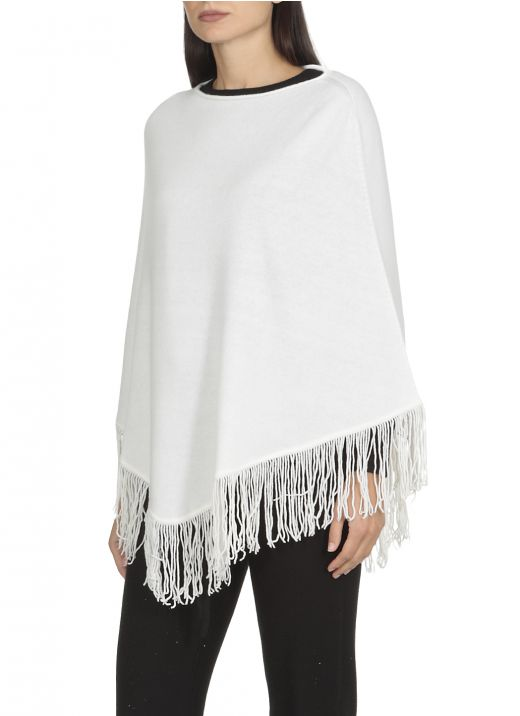 Wool and silk poncho