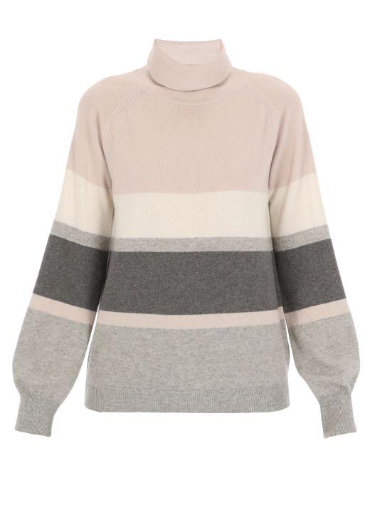 Wool blend turtleneck