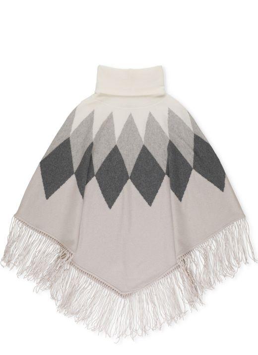 Merino wool cape