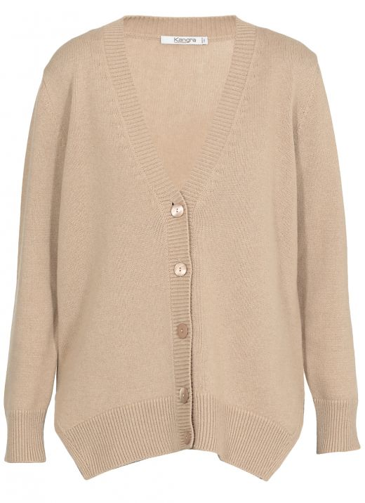 Cashmere knitted cardigan