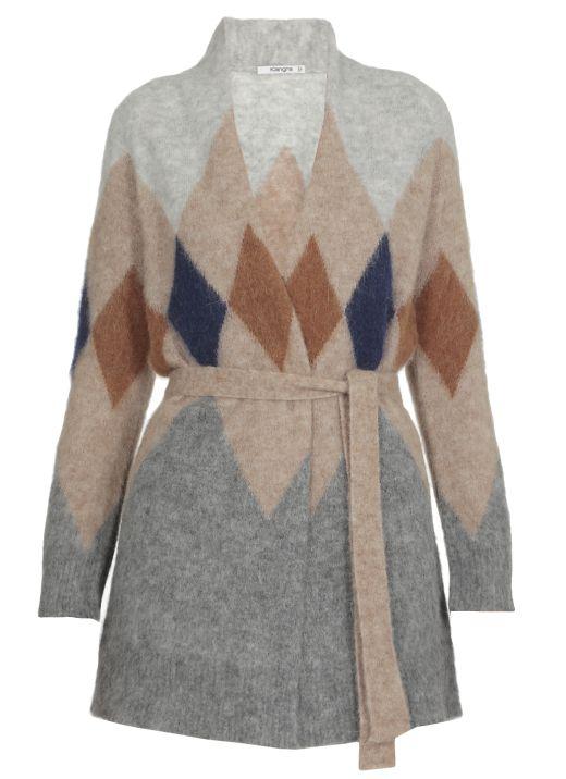 Alpaca knitted cardigan