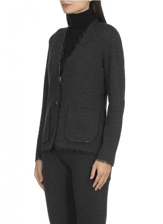 Double knitted cardigan