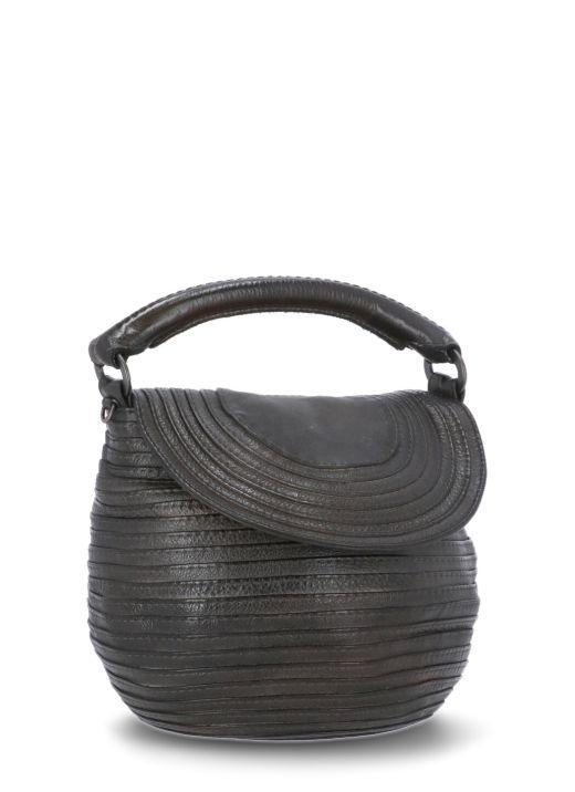 Pebbled leather bag